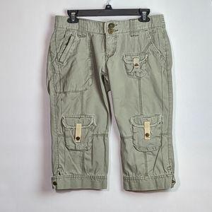 💥Tyte green khaki cargo utility Capri pants